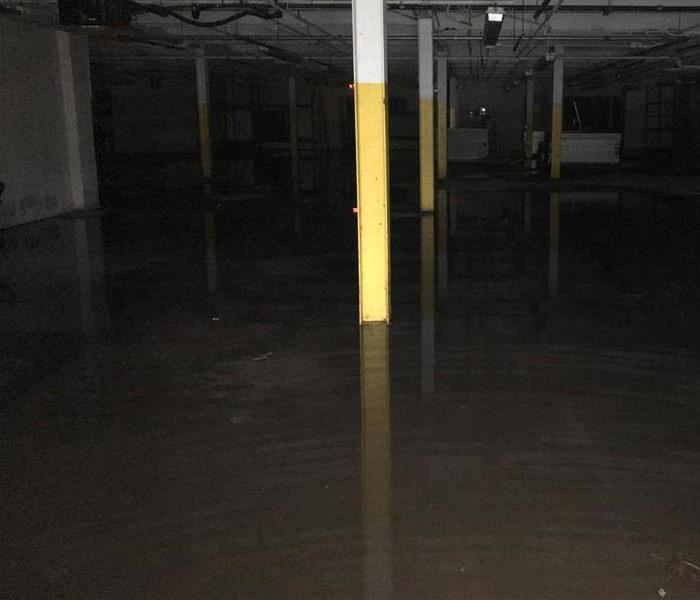 Water Damage in Middle Island - Commercial building  Before